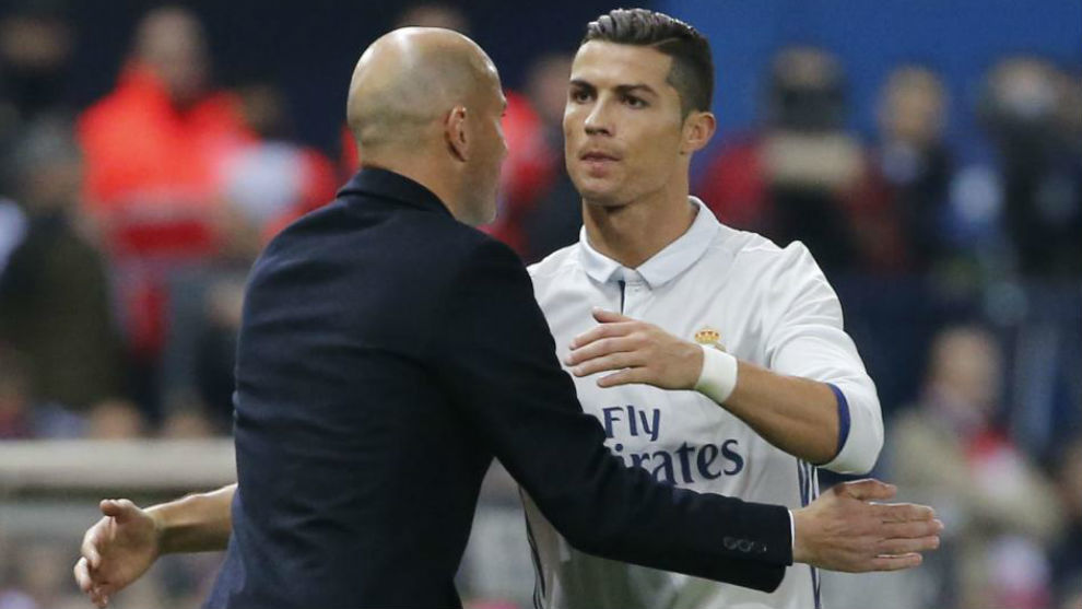 Zidane y Cristiano en el Calderón