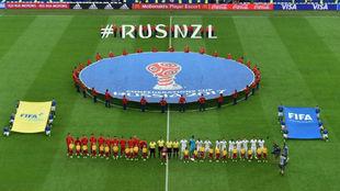 Rusia y Nueva Zelanda dieron comienzo a la competición