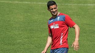 Ricardo Costa, en una imagen de archivo entrenándose con el Granada...