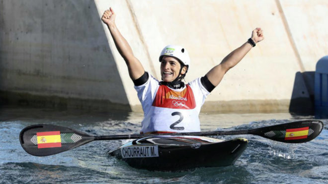 Maialen Chourraut en los Juegos de Río.