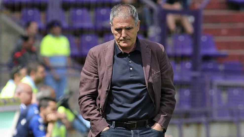 Paco Herrera (63), en un partido con el Valladolid.