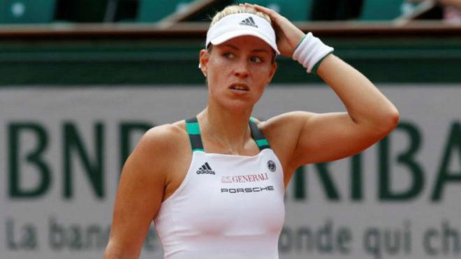 Angelique Kerber en Roland Garros este año.