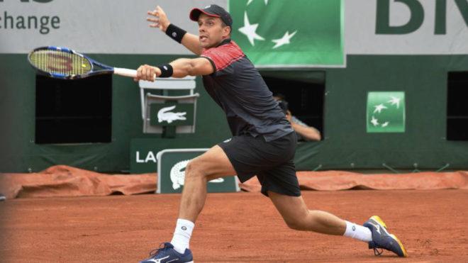 Gilles Müller este mismo año en Roland Garros.