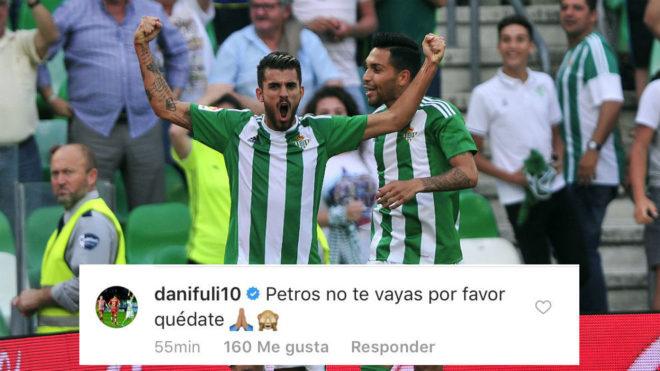 Ceballos y Petros, celebrando un gol