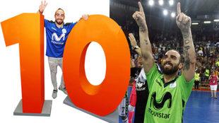 Ricardinho ha ganado las tres Ligas que ha jugado en España y suma...
