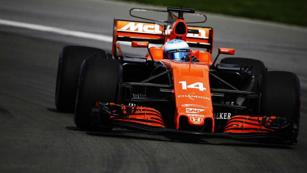 Fernando Alonso en el Gran Premio de Canadá