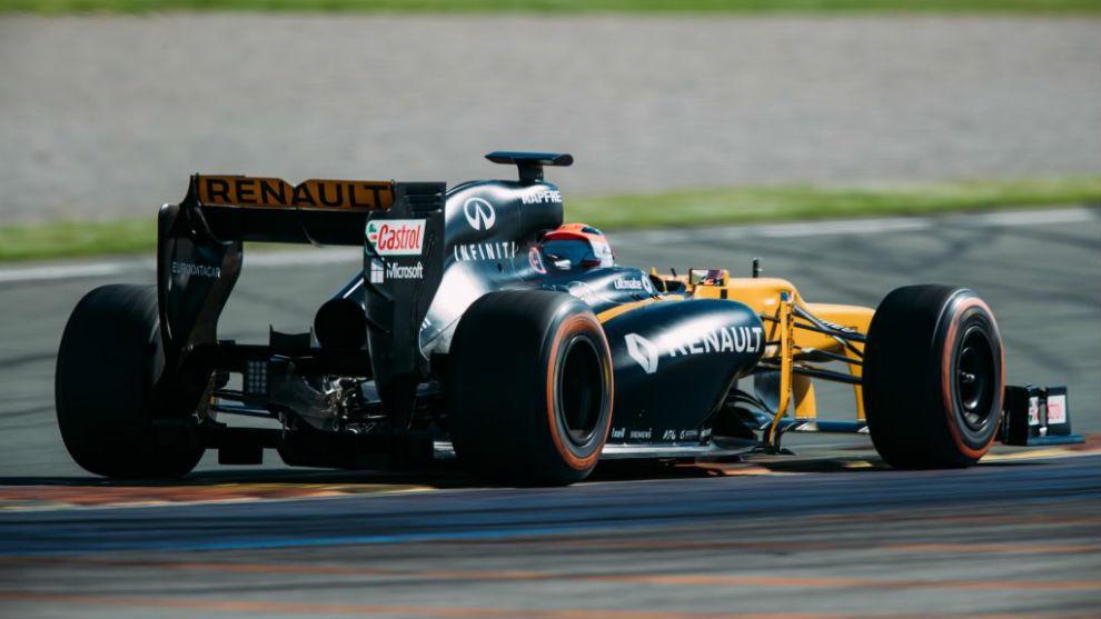 Kubica, durante el test con Renault