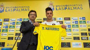 Ximo Navarro, en su presentación como jugador de Las Palmas