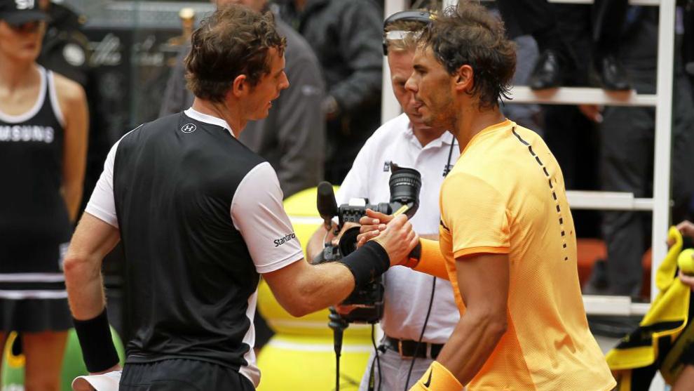 Partido entre Rafael Nadal y Andy Murray