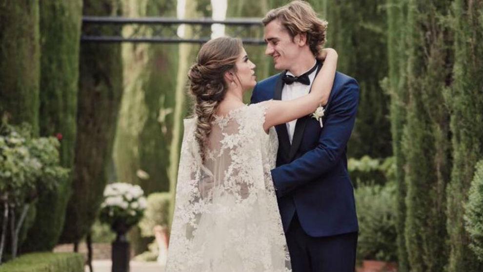 La boda de Antoine Griezmann (Atlético de Madrid) y Erika Choperena