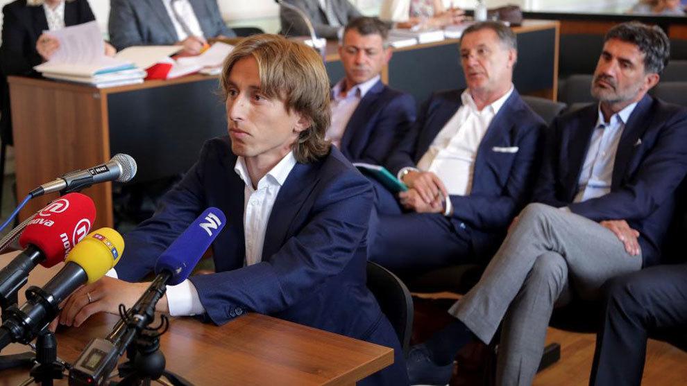 Modric, testificando en el juicio contra Mamic
