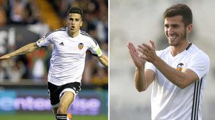 Los valencianistas Joao Cancelo y José Luis Gayá se enfrentan este...