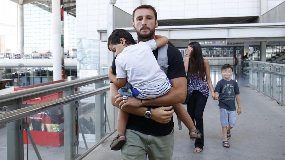 Baysse, a su llegada a Málaga.