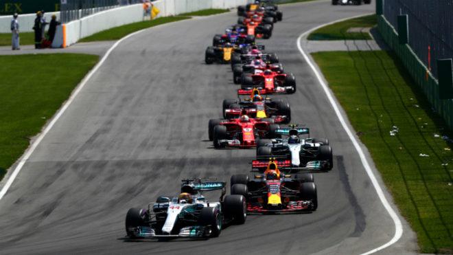 Arranque del GP de Canadá.