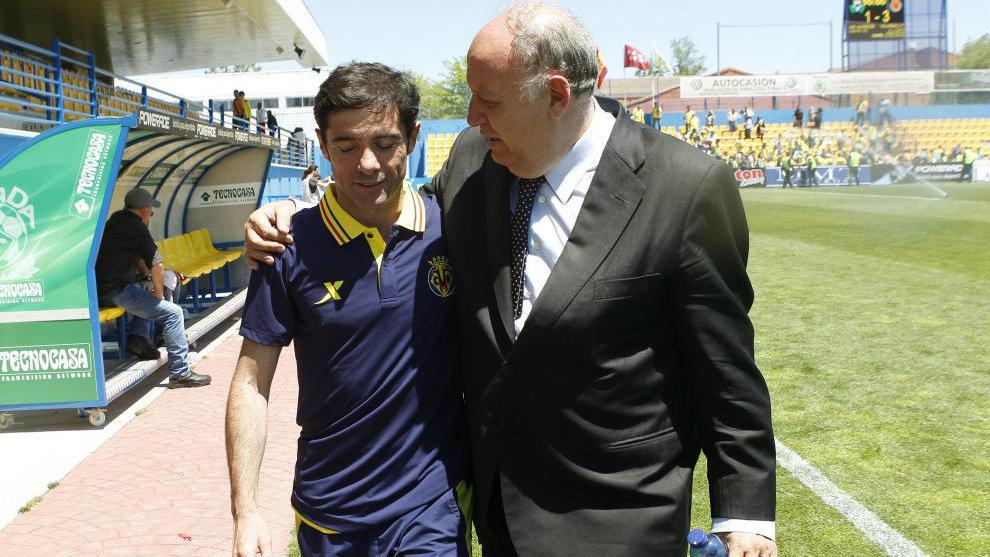 Marcelino y Llaneza, en Alcorcón cuando el Villarreal militaba en...