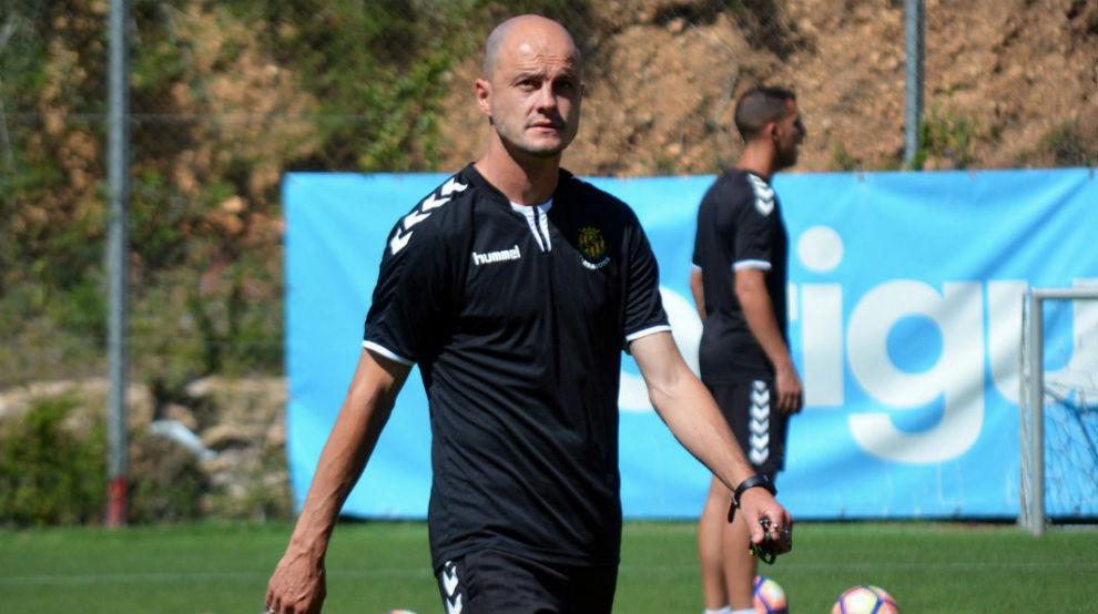 Nano Rivas durante un entrenamiento de la temporada pasada.