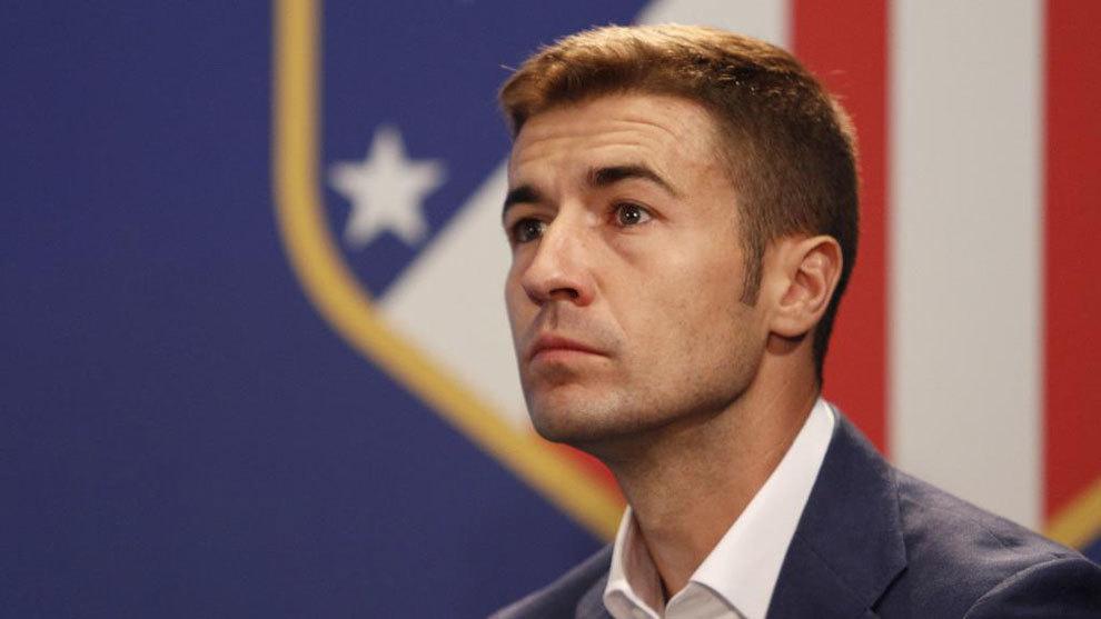 Gabi, en la presentación de la Asociación del Leyendas del Atlético...