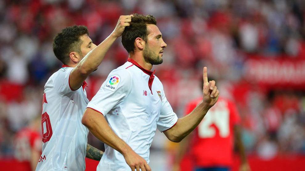 Franco Vázquez con el Sevilla