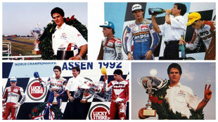 Las mejores im�genes de la victoria en Assen 1992