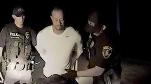 Tiger Woods, durante su detención hace tres semanas.