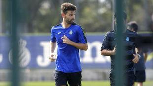 Víctor Álvarez, en una sesión de entrenamiento.