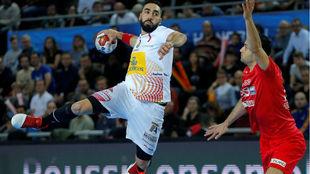 Valero Rivera, en un partido con la selección española.