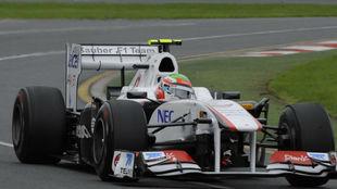 El Sauber de Sergio P�rez, en el Gran Premio de Australia de 2011.