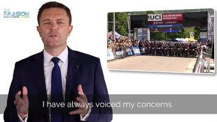 Captura del video en el que David Lappartient explica sus objetivos en...