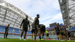 México, en un entrenamiento en Sochi antes del partido ante Nueva...