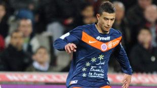 Younes Belhanda,en un partido durante su etapa en el Montpellier.
