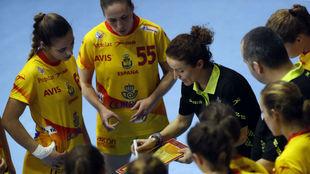 Susana Pareja, al frente de la selección femenina B.