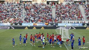 Un entrenamiento de la Selección en su última concentración