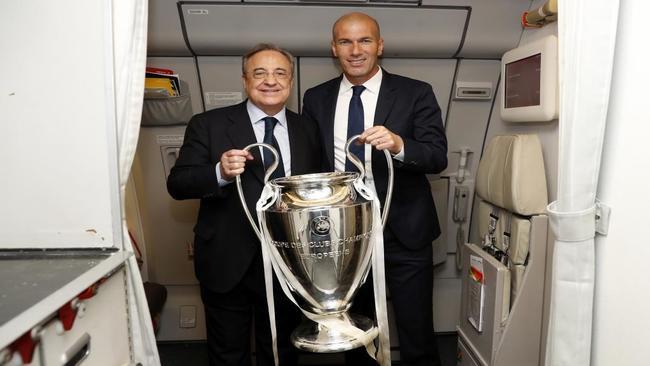 Florentuno y Zidane con la Champions.