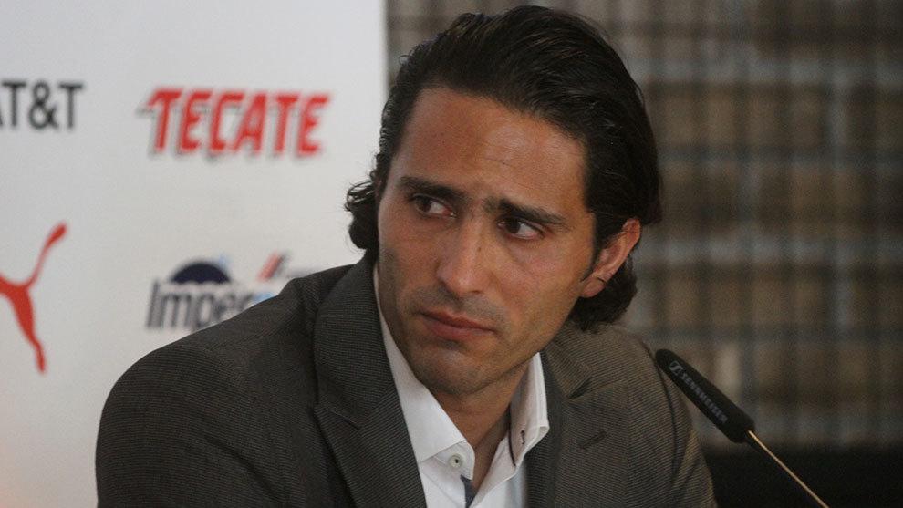 Aldo de Nigris durante la conferencia de prensa de anuncio de su...