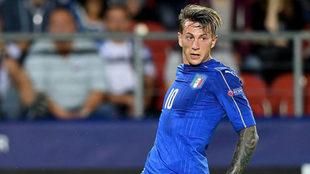 Bernardeschi, en un partido con Italia en el Europeo sub 21