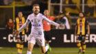 Lucas Lima, en un partido del Santos