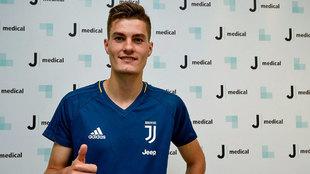 Schick, durante el reconocimiento con la Juventus
