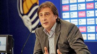 Loren, director deportivo de la Real Sociedad.
