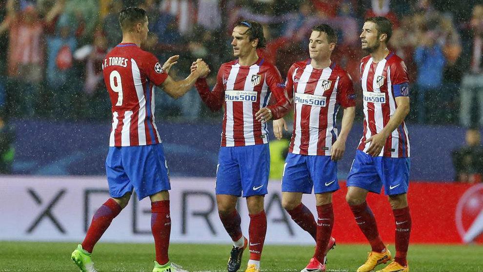 Imagen de los jugadores del Atlético de Madrid esta temporada
