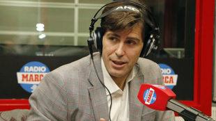 Raúl Chapado durante una entrevista en Radio MARCA.