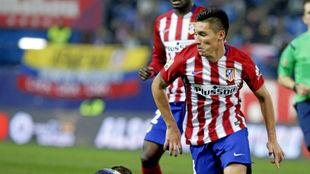 Kranevitter, en un partido con el Atlético.