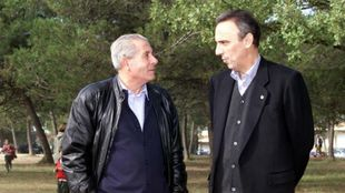 Ferrán Olivella charla con Joan Gaspart