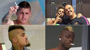 Marco Verratti joins a  select group of footballers who smoke
