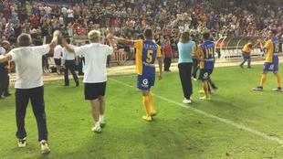 El UCAM Murcia, durante el ascenso a Segunda de la temporada pasada.