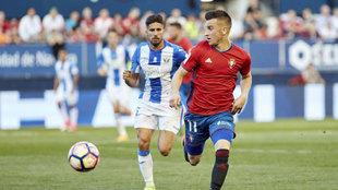Berenguer contra el Leganés la pasada temporada
