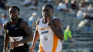 Christian Coleman, en los 100 metros.