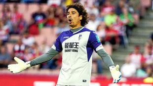 'Memo' Ochoa (31), en un partido con el Granada, con el que...