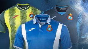 Las nuevas camisetas del Espanyol.
