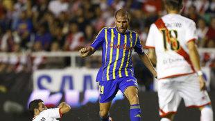 Ortuño con el Cádiz esta temporada