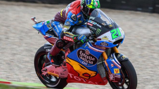 Morbidelli pilota su Kalex en el circuito de Assen.
